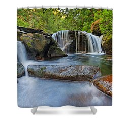 Waterfalls At Sweet Creek Falls Trail Shower Curtain