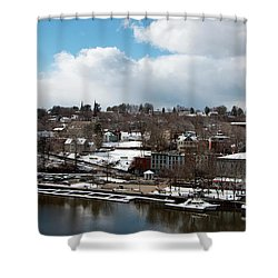 Waterfront After The Storm Shower Curtain by Jeff Severson