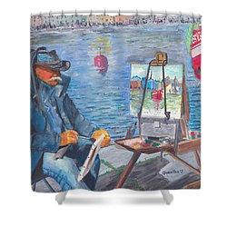 Waterfront Artist Shower Curtain