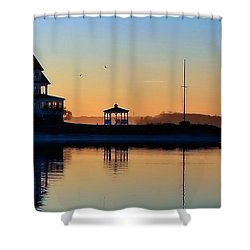Waterfront Living Shower Curtain