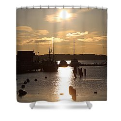 Waterfront, Oslo Fjords, Norway.  Shower Curtain