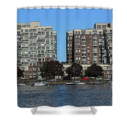 Waterfront Property Shower Curtain