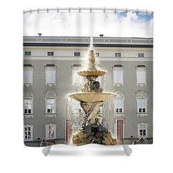 Water Horses In Salzburg Shower Curtain