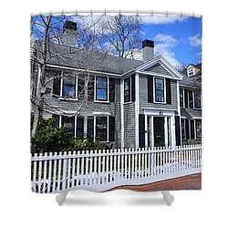Waterhouse House In Cambridge Shower Curtain