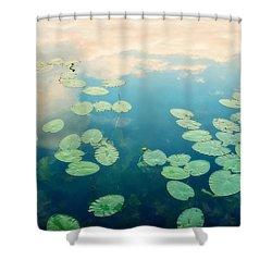 Waterlilies Home Shower Curtain by Priska Wettstein