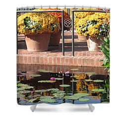 Waterlilies Shower Curtain by Kathie Chicoine