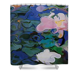 Waterlilies Six Shower Curtain by David Klaboe