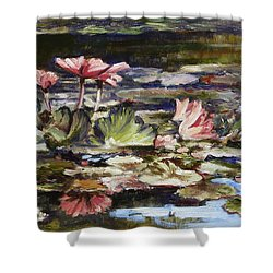 Waterlilies Tower Grove Park Shower Curtain