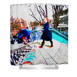 Waterloo Street Scene Shower Curtain