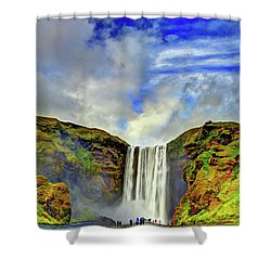 Shower Curtain featuring the photograph Watermall And Mist by Scott Mahon