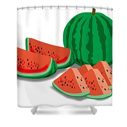 Watermelon Shower Curtain