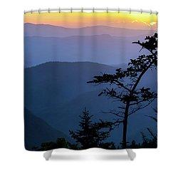 Waterrock Blues Shower Curtain