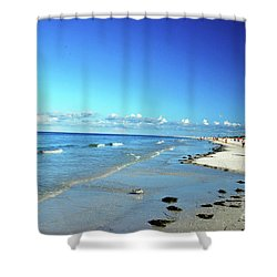 Shower Curtain featuring the photograph Water's Edge by Gary Wonning