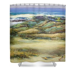 Water's Edge Shower Curtain by Glory Wood