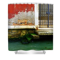 Water's Edge In Venice Shower Curtain