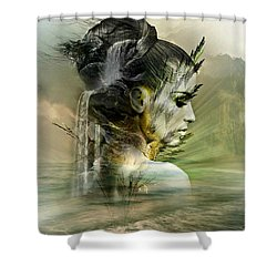 Waters Of The Whispered Sole Shower Curtain