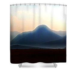 Waterton - Mountain Panorama Shower Curtain by Stuart Turnbull