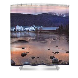 Waterville Valley Sunset Shower Curtain by Nancy Griswold