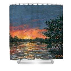 Waterway Sundown Shower Curtain