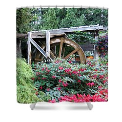 Waterwheel Shower Curtain by Betty Buller Whitehead