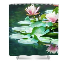 I Dream Of Water Lilies Shower Curtain
