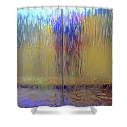 Shower Curtain featuring the photograph Watery Rainbow Abstract by Nareeta Martin