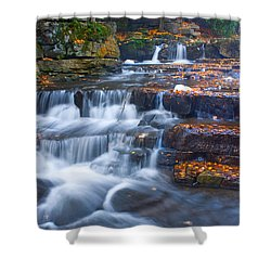 Watery Steps Shower Curtain