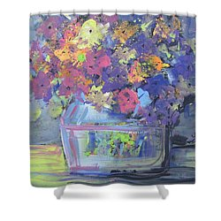 Watery Vessel Shower Curtain