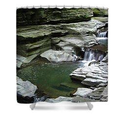 Shower Curtain featuring the photograph Watkins Glen State Park by John Schneider