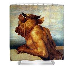 Watts: The Minotaur Shower Curtain by Granger