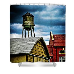Waurika Old Buildings Shower Curtain by Toni Hopper