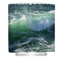 Wave At Montana De Oro Shower Curtain by Michael Rock