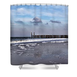 Wave Breakers Shower Curtain