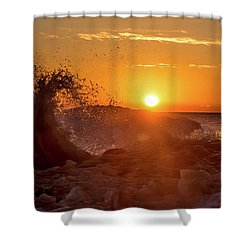 Wave Catcher Shower Curtain