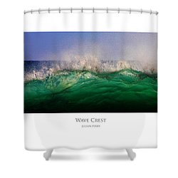 Shower Curtain featuring the digital art Wave Crest by Julian Perry