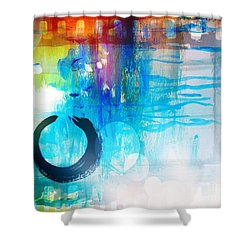 Wave Shower Curtain by France Laliberte