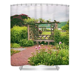 Wave Hill Respite Shower Curtain by Jessica Jenney