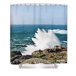 Wave Like Quartz Shower Curtain by Terri Waters