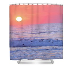 Wave Of Gratitude Nature Art Shower Curtain