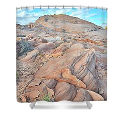 Wave Of Sandstone In Valley Of Fire Shower Curtain