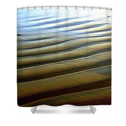 Wave Patterns At Drake's Beach, Point Reyes National Seashore Shower Curtain