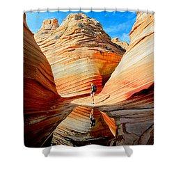 Wave Reflection Shower Curtain