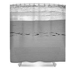 Wave Remarks Shower Curtain