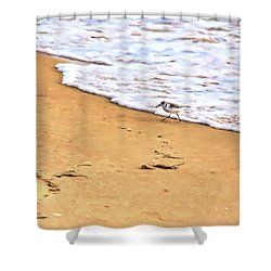 Shower Curtain featuring the photograph Wave Runner by Jan Amiss Photography