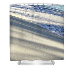 Wave Shadows Shower Curtain