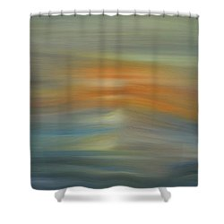 Wave Swept Sunset Shower Curtain by Dan Sproul