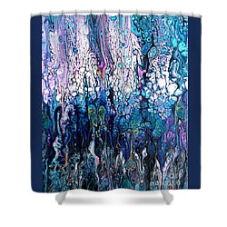 Wave Traces #2414 Shower Curtain