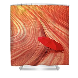 Shower Curtain featuring the photograph Wave Umbrella by Norman Hall