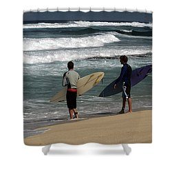 Wave Watch Shower Curtain