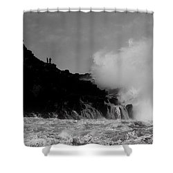 Wave Watching Shower Curtain by Roy McPeak